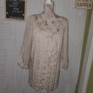 DB PLUS SIZE LINED SHEER BLOUSE size 3x BRAND NEW